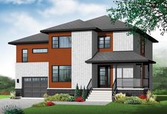 Contemporary   House Plan 76370