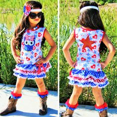 Owl 4th of July Dress