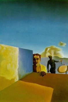 Barber Saddened by the Persistence of Good Weather (The Anguished Barber)- Salvador Dali - WikiArt.org