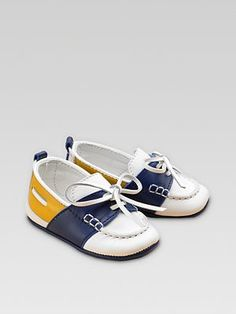Gucci Leather Boat shoes adorable-tot-fashion