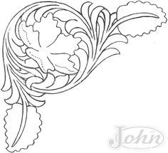 drawings patterns for carving in leather - Pesquisa Google