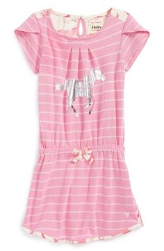 Hatley Short Sleeve Stripe Dress (Toddler Girls, Little Girls & Big Girls) available at #Nordstrom