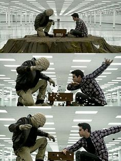 Stiles and Nogitsune, Stiles, Nogitsune, Teen Wolf, Season 3