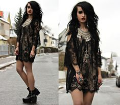 Lace Tunic, Urban Outfitters Necklace