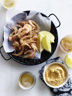 Deep-fried school prawns with smoked-paprika alioli
