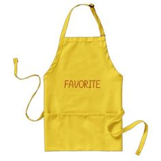 Favorite Standard Apron - red gifts color style cyo diy personalize unique