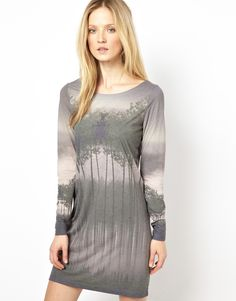 Selected Irena Dress in Forest Print