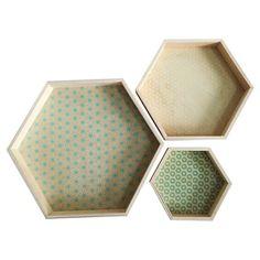 Home Port Set of 3 Cassandra Hexagon Trays : Target