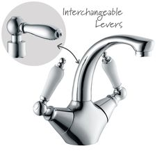 Cooke & Lewis Timeless 2 Lever Basin Mixer Tap | Departments | DIY at B&Q