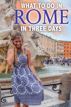 Rome is famous for being one of the most historical, cultured and romantic destinations in the world, and whether you are visiting to enjoy the excellent food or to see the sights of the city, you won't leave disappointed! Here are my tips on what to do in Rome in three days! #Rome