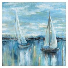 Shop for Masterpiece Art Gallery A Boat's Evening on the Bay Square by Nan Canvas Art Print. Get free delivery at Overstock - Your Online Art Gallery Store! Get in rewards with Club O! Nautical Painting, Sailboat Painting, Canvas Artwork, Canvas Art Prints, Painting Prints, Framed Prints, Best Canvas, Square Canvas, Coastal Art