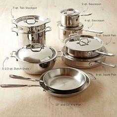 All-Clad Copper Core 15-Piece Cookware Set #williamssonoma