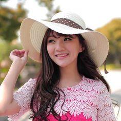 Fascinator bow floppy straw hat for girls UV summer wear