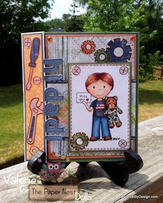 The Paper Nest dolls stamps. Great card and layers!