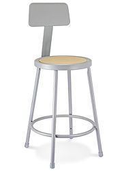 Shop Stool with Backrest - Metal H-4827