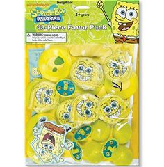 Sponge-bob Squarepants Birthday Party Supplies 48pc Mega Value Favor Pack -- This is an Amazon Affiliate link. You can find more details by visiting the image link.