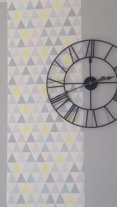 Décoration scandinave... Merci le papier peint géométrique!