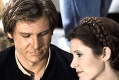 Leia and Han Solo...Love how he's looking at her