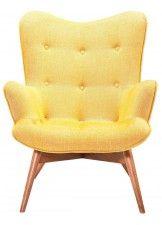 Kare Design Fauteuil Angels Wings Rhythm Mustard - Geel