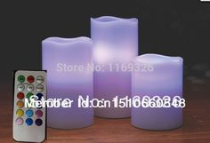 Remote Control LED ivory candle 4Hours and 8 Hours Timer battery powered 12 colors option home decorative wax pillar candle s