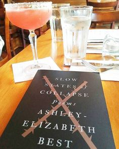 """What better way to spend #TequilaTuesday than alongside Ashley-Elizabeth Best's latest collection? 🍹📖 #regram @vzbookgaga """"Perfect mix of tequila, Campari and #poetry ... #cocktailsofinstagram"""""""