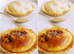 Pradobroty: Tartaletky s crème brûlée Sweet Life, Camembert Cheese, Creme, Muffin, Dairy, Pie, Breakfast, Recipes, Food