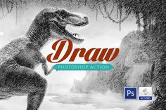 Draw effect | Photoshop action by @Graphicsauthor