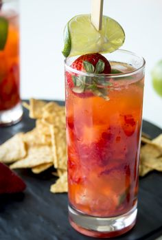 Get your taste buds ready! The sweet pairing of strawberry and lime make this reduced-calorie cocktail a must try recipe. With a few simple ingredients (strawberries, lime, tequila) you can have this Strawberry Juan Collins ready in minutes.  A great drink to enjoy at any social gathering this summer.