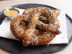 Get Everything Bagel Soft Pretzels Recipe from Cooking Channel