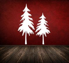 Wall Decal Tree Rustic Snow Branches Wood by WallStarGraphics