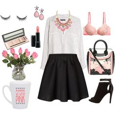 """""""on wednesdays we wear pink"""" by hello-kitty-ro on Polyvore"""