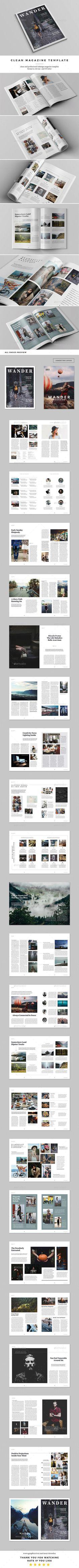 Wander Magazine - Magazines Print Templates Download here : https://graphicriver.net/item/wander-magazine/17430968?s_rank=144&ref=Al-fatih