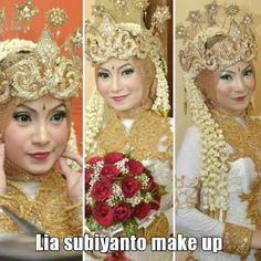 Its called sundanese siger bride style, its one.of traditional wedding style from west java in indonesia. Combination betwen crown with jasmine as a head pieces, its soo authentic and ethnic
