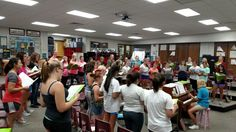 Rehearsal at the end of the first day of school for Sound Sensation.