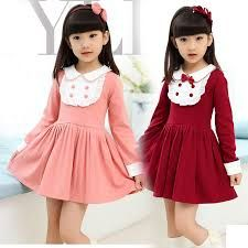 Cheap cotton kids dress, Buy Quality brand girl dress directly from China girls brand dress Suppliers: 2016 Autumn Winter Girls Brand Clothing Knee-length Bow-knot Girl Dress Kid Clothes Fall Dress Baby Girl Cotton Kid Dress Fall Dresses, Cute Dresses, Fall Outfits, Kids Outfits, Little Girl Dresses, Girls Dresses, Dress Up Shoes, Dress Anak, Girl Falling
