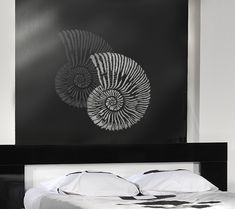 STENCIL FOR WALLS Fossil Shell. Reusable stencils are better, easier than Wall Decals