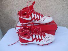 quality design 3348c e1cd6 New Nike Huarache V 5 LAX Lacrosse Cleats White Cool Grey 807142-010 Men s  Sizes   eBay