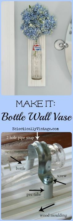 Bottle Crafts Idea - make your own vintage bottle vase! This is so cute! eclecticallyvintage.com