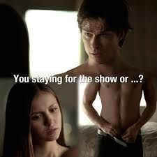 She does wanna stay, but she knows it would be the wrong thing to do. C'mon Elena, do the wrong thing for once!!