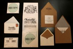 Some awesome DIY invites.  I'm not a ginormous fan of the style.  But this is a great layout and gives me lots of ideas.