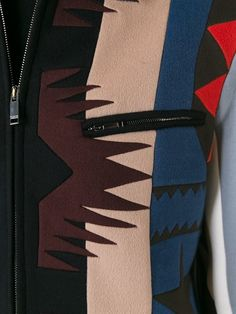 Shop Valentino navajo-style pattern bomber jacket in Stefania Mode from the…