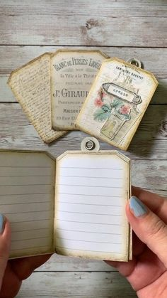 Journal Pages, Junk Journal, Journal Covers, Vintage Tags, Diy Vintage Books, Diy Old Books, Vintage Paper Crafts, Old Book Crafts, Crafts For Book Lovers Diy