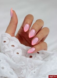 Chic nails nails almond nails long nails gel nails nails art nails design Style - Care - Skin care , beauty ideas and skin care tips Peach Nails, Pink Nails, Gel Nails, Nail Polish, Coffin Nails, Acrylic Nails, Love Nails, Peach Nail Art, Chic Nails