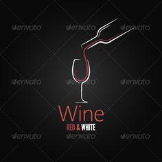 Wine Concept Ornate Design