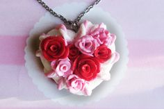 Rose necklace valentine rose valentine necklace by TheJewelSaga