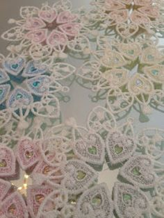 Embroidery It: Machine Embroidery with Mylar and Free Standing Lace