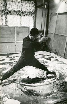Kazuo Shiraga, painter and monk