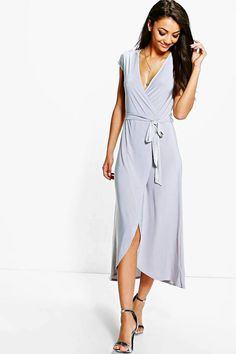 Tall Shamira Slinky Wrap and Tie Midaxi Dress