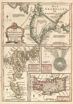 1747 map of Greenland, Iceland and the Faroe Islands