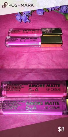 Milani Amore Matte Lip Creme #16 Sweetheart #17 Fancy . The Amore Matte Lip Crème has arrived. This revolutionary, highly saturated liquid-to-matte formula dries to a soft, velvety finish for fuller-looking lips. Its double-sided, flexible plush applicator hugs the contours of lips, working to lock in bold, opaque color. Milani Makeup Lipstick
